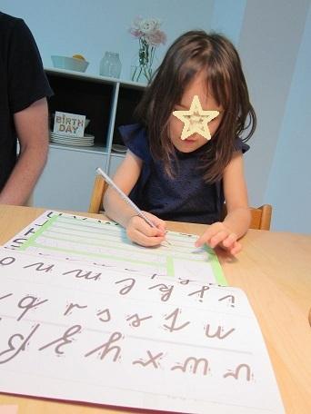 アルファベット練習中
