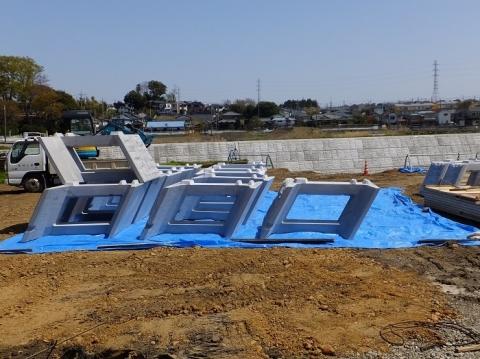 下土棚遊水地A池・護岸用コンクリート部材