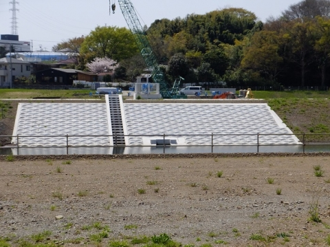 下土棚遊水地B池排水ゲート
