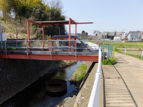 比留川の取水施設?
