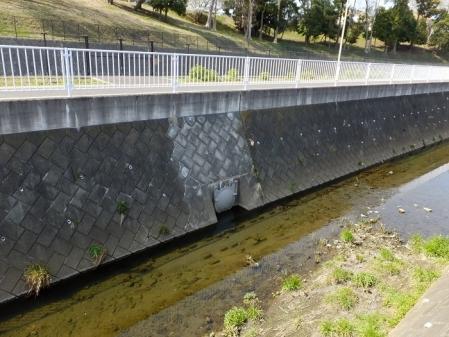 比留川・雨水調整池のフラップゲート