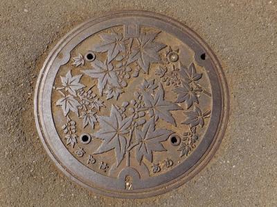 綾瀬市の雨水下水管マンホールフタ