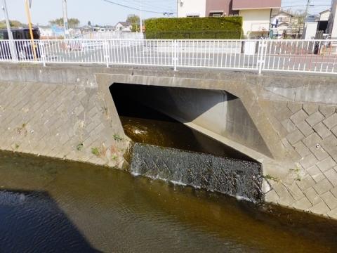 比留川左岸に合流する河川・綾瀬市深谷