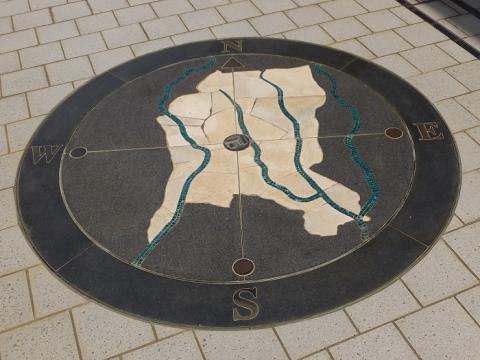 綾瀬市内を流れる河川図