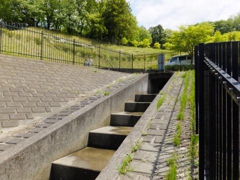 あつぎつつじの丘公園遊水池・雨水下水管吐口