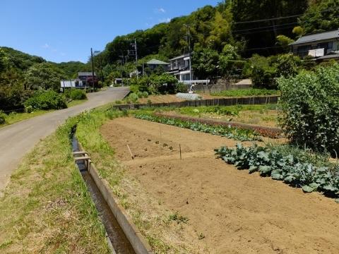 城北地区の畑と用水路・相模原市緑区