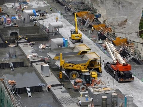 建設工事中の八ッ場ダム