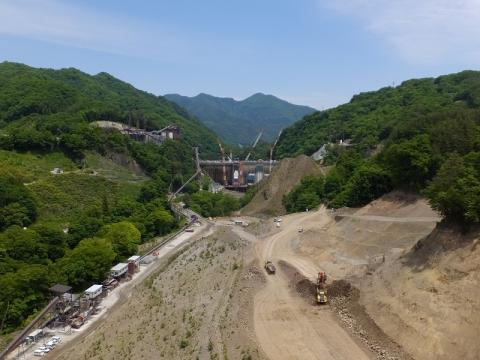 建設中の八ッ場ダム