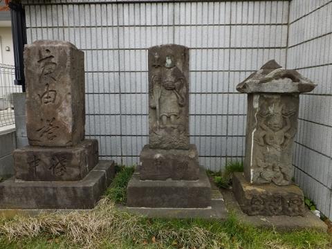 綾瀬市山谷の石造物