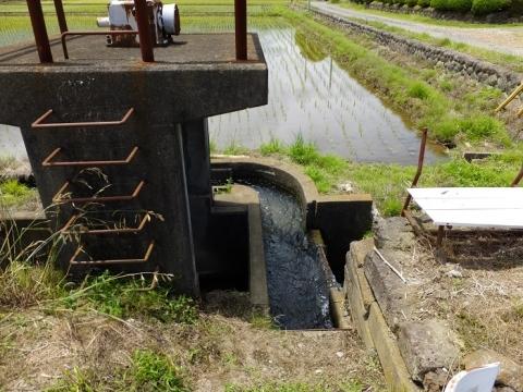 厚木市飯山の田んぼ・分水施設