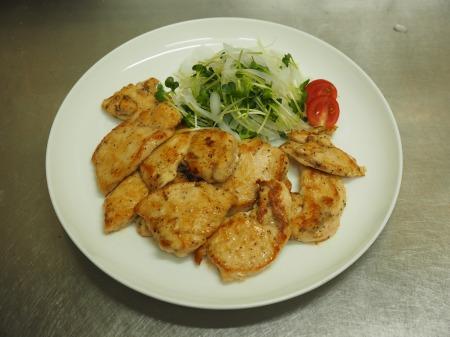 鶏むね肉のレモンステーキ033