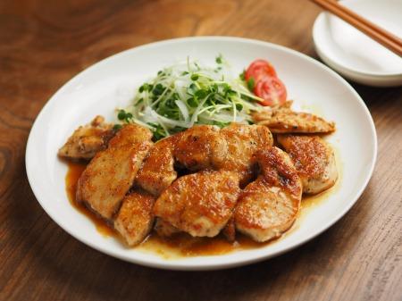 鶏むね肉のレモンステーキ044