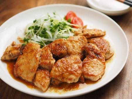 鶏むね肉のレモンステーキ046