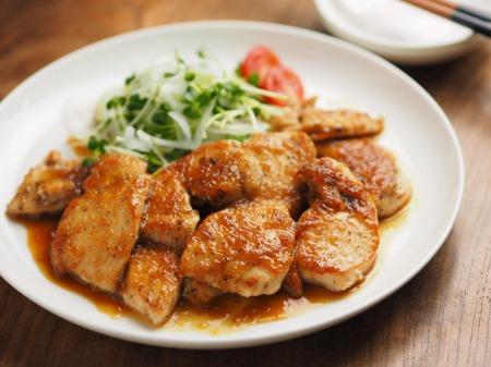 鶏むね肉のレモンステーキ048
