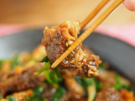 牛すじキムチ炒め017