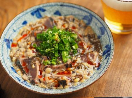 かつおたたきのもずく酢納豆和030