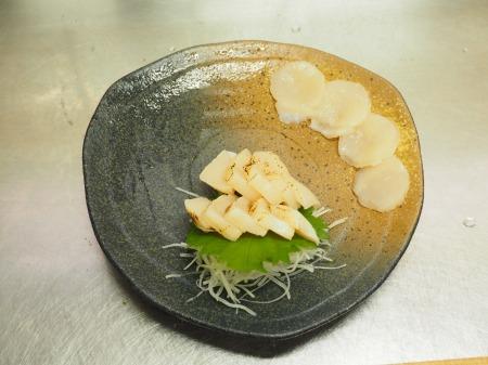 ホタテの刺身、焼き霜刺身081