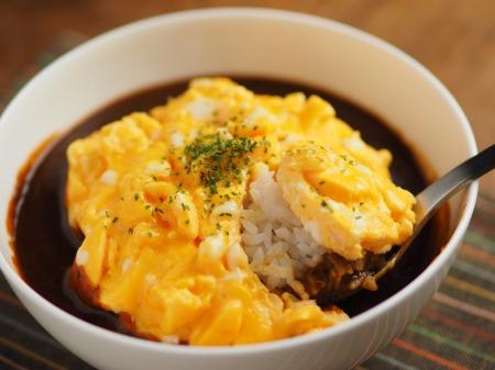 オムカレー丼014
