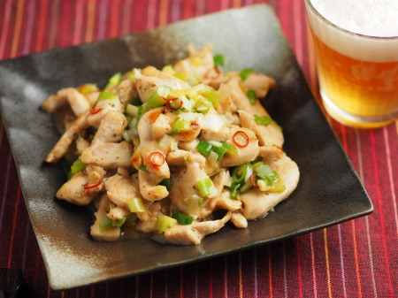 鶏むね肉のねぎ塩焼き013