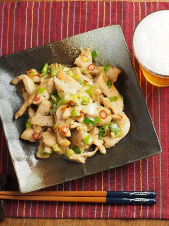 鶏むね肉のねぎ塩焼き026