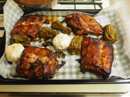 豚バックリブのオーブン焼き071
