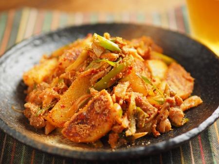 長芋の明太キムチ炒め013