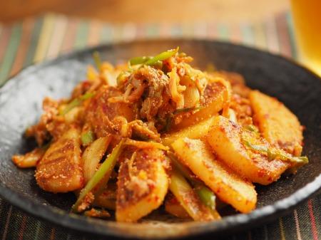 長芋の明太キムチ炒め012