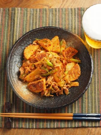 長芋の明太キムチ炒め023
