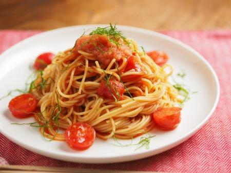 トマトと辛子明太子の冷製パ019