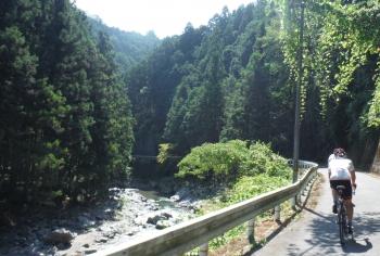 丹生川沿い