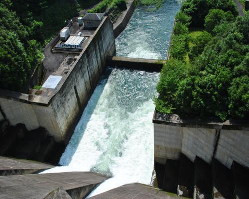 坂本ダム下流
