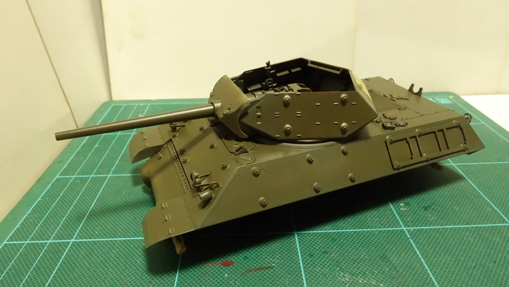 タミヤのミリタリーミニチュアシリーズ No.350 アメリカ M10 駆逐戦車(中期型) その1