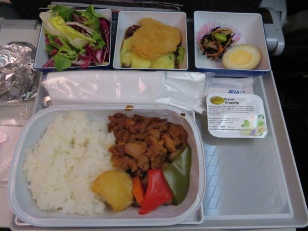 復路の機内食1