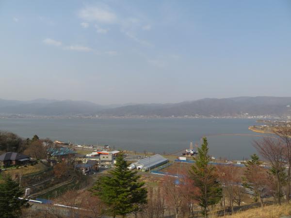 諏訪湖俯瞰