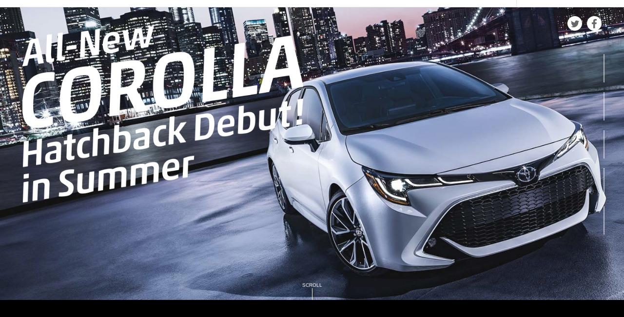 トヨタ 新型カローラ All New COROLLA Hatchback Debut トヨタ自動車WEBサイト