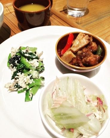 江戸菜と黒海苔の白和え