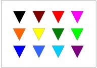 逆三角形のフリー素材テンプレート・図形・イラスト