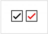 チェックボックスのフリー素材テンプレート・図形・イラスト