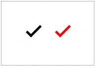 レ点のフリー素材テンプレート・図形・イラスト
