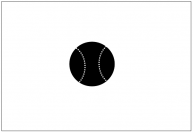 野球ボールのフリー素材テンプレート・図形・イラスト