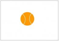 テニスボールのフリー素材テンプレート・図形・イラスト