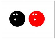 ボウリングボールのフリー素材テンプレート・図形・イラスト
