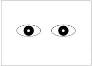 目のフリー素材テンプレート・図形・イラスト