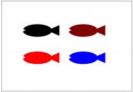 魚のフリー素材テンプレート・図形・イラスト