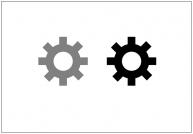 歯車のフリー素材テンプレート・図形・イラスト