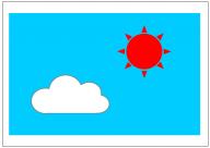 青空のフリー素材テンプレート・図形・イラスト