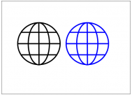地球のフリー素材テンプレート・図形・イラスト
