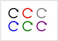 更新ボタンのフリー素材テンプレート・図形・イラスト