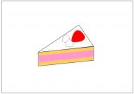 ショートケーキのフリー素材テンプレート・図形・イラスト
