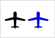 飛行機のフリー素材テンプレート・図形・イラスト